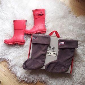 NWT Hunter boots and fleece socks size 11